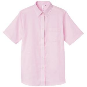 〔レディース〕半袖Yシャツ オックスフォード ブラウス ボタンダウン【AIMY】00806-SOL|t-shirtstore