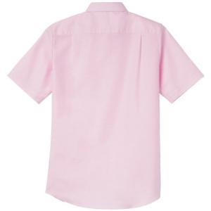 〔レディース〕半袖Yシャツ オックスフォード ブラウス ボタンダウン【AIMY】00806-SOL t-shirtstore 02