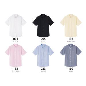 〔レディース〕半袖Yシャツ オックスフォード ブラウス ボタンダウン【AIMY】00806-SOL t-shirtstore 03