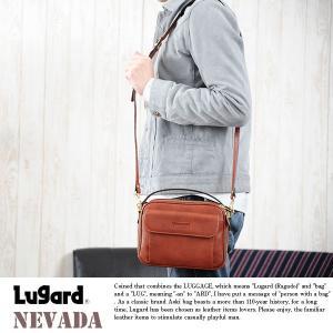 青木鞄 Lugard 本革ミニショルダーバッグ メンズ 日本製 レザー 2way|t-style