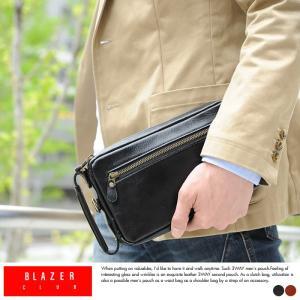 本革3wayポーチ メンズ セカンドバッグ 豊岡鞄 BLAZERCLUB|t-style