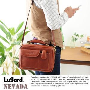 青木鞄 Lugard 本革ミニショルダーバッグ メンズ 日本製 2way レザー|t-style