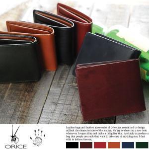 ORICE 本革 財布 メンズ 二つ折り 革 二つ折り財布 小銭入れあり|t-style