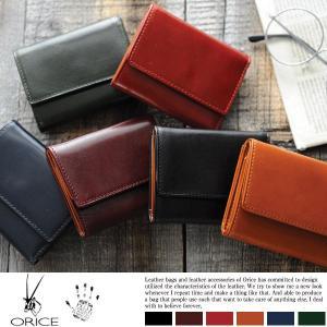 ORICE 三つ折り財布 メンズ 革 本革 財布 小銭入れあり|t-style