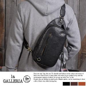 青木鞄 本革ボディバッグ メンズ ワンショルダー la GALLERIA Foresta|t-style