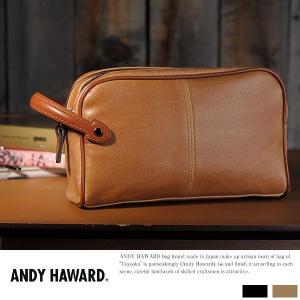 ANDY HAWARD ダブルセカンドバッグ メンズ クラッチバッグ ポーチ|t-style