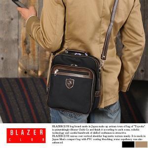 ミニショルダーバッグ メンズ iPad mini 日本製 BLAZERCLUB|t-style