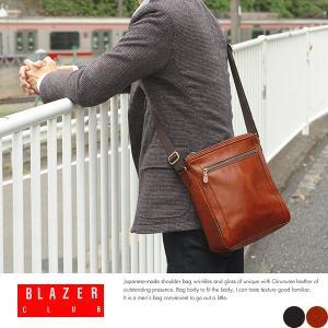 本革ショルダーバッグ メンズ 日本製 斜めがけ B5 BLAZERCLUB|t-style