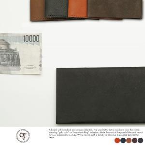 長財布 メンズ 薄い レザー 本革 小銭入れなし 日本製 ORO|t-style