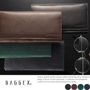 長財布 メンズ 本革 レザー 小銭入れあり BAGGEX|t-style