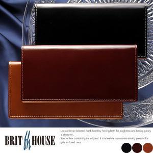 コードバン 長財布 メンズ 札入れ 日本製 本革 小銭入れなし BRIT HOUSE t-style