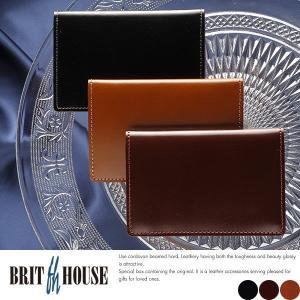 コードバン 名刺入れ メンズ 日本製 本革 BRIT HOUSE t-style