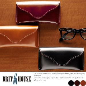コードバン メガネケース メンズ 日本製 本革 BRIT HOUSE|t-style
