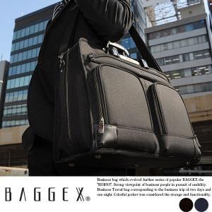 ビジネスバッグ 出張 メンズ B4 2way ブリーフケース BAGGEX|t-style