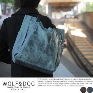 WOLF&DOG 馬革トートバッグ メンズ 本革 A4 2way 日本製|t-style