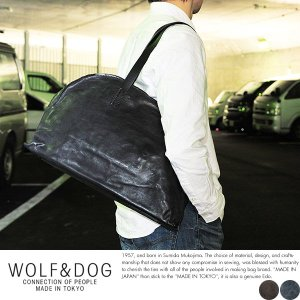WOLF&DOG 馬革ボストンバッグ メンズ 本革 A4 日本製|t-style