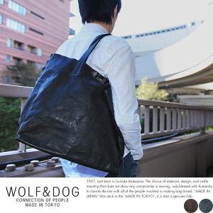 WOLF&DOG 馬革トートバッグ メンズ 本革 A4 日本製|t-style
