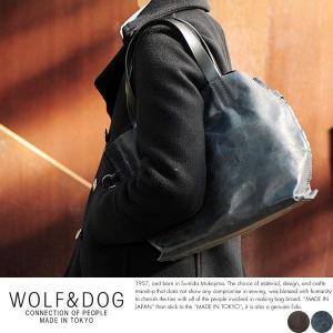 WOLF&DOG 馬革トートバッグ メンズ 本革 B5 2way 日本製|t-style