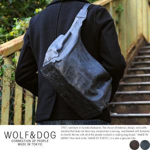 WOLF&DOG 馬革ショルダーバッグ メンズ 本革 A4 日本製|t-style