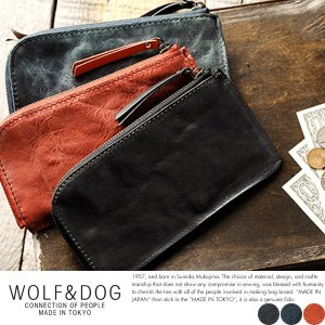 長財布 L字ファスナー 薄型 WOLF&DOG ホワイトホース メンズ スリム ロングウォレット 日本製 極上|t-style