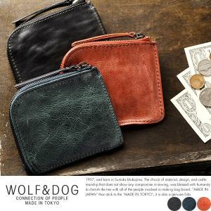WOLF&DOG 馬革L字ファスナー短財布 メンズ 本革 小銭入れ 日本製|t-style