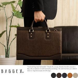 ビジネスバッグ 豊岡鞄 メンズ 日本製 2way A4 合皮 BAGGEX|t-style
