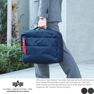 ALPHA INDUSTRIES INC. 軽量2wayビジネスバッグ メンズ A4 多機能|t-style