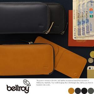 bellroy長財布 ラウンドファスナー マネークリップ付き メンズ ベルロイ  ロングウォレット 本革 小銭入れあり|t-style