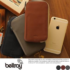 bellroy ベルロイ 財布  防水スマホウォレット iPhone6対応 メンズ 本革 レザー