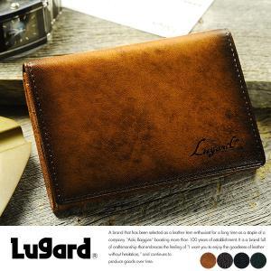 青木鞄 Lugard 名刺入れ メンズ 本革 レザー カードケース|t-style