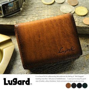 青木鞄 Lugard 二つ折り財布 小銭入れあり メンズ 本革 レザー|t-style