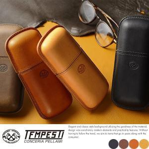TEMPEST 本革メガネケース ハードタイプ メンズ 日本製 眼鏡ケース t-style
