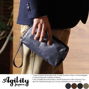 AGILITY 馬革ポーチ メンズ 日本製 バッグインバッグ|t-style