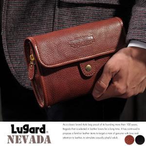 青木鞄 Lugard 本革ポーチ メンズ 日本製 ベルトポーチ レザー|t-style