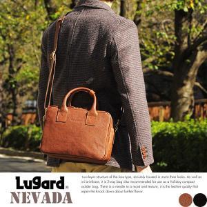 青木鞄 Lugard 本革ミニショルダーバッグ ダブル メンズ 日本製 レザー|t-style