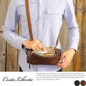 Costa Liberta 財布機能付き3wayミニバッグ メンズ 本革 レザー|t-style
