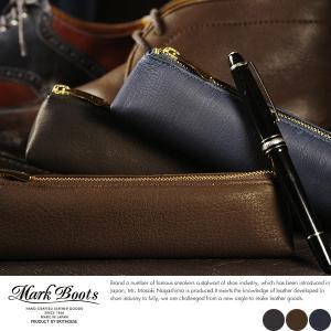 Mark Boots 鹿革ペンケース 本革 日本製 ディアスキン t-style