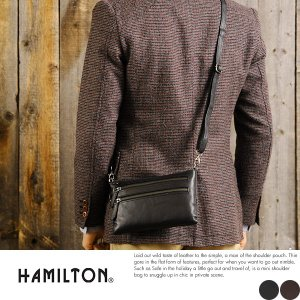 HAMILTON 2wayショルダーポーチ メンズ 本革 クラッチバッグ|t-style