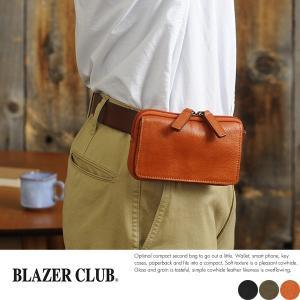 BLAZERCLUB スリムベルトポーチ メンズ 本革 日本製 小型 小さい|t-style