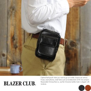 BLAZERCLUB 縦型ベルトポーチ 牛革オイルヌメ メンズ 日本製 小型 小さい|t-style