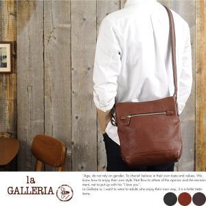 青木鞄 la GALLERIA 縦型ミニショルダーバッグ メンズ 本革 レザー|t-style