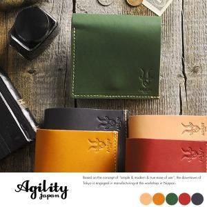 AGILITY 東京レザー コンパクト財布 小銭入れあり メンズ 本革 日本製 t-style
