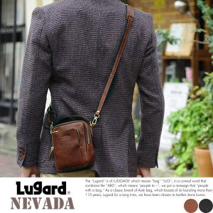 青木鞄 Lugard ショルダーポーチ メンズ ヌメ革 日本製 本革|t-style