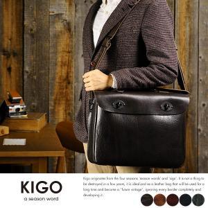 KIGO 2wayショルダーバッグ メンズ 本革 日本製 B4 ブルハイド t-style