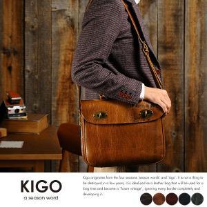 KIGO 2wayショルダーバッグ メンズ 本革 日本製 A4 ブルハイド t-style