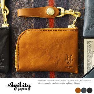 AGILITY L字ファスナー短財布 メンズ 栃木レザー 本革 日本製|t-style