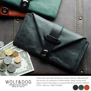 WOLF&DOG ギャルソン長財布 ホワイトホース|t-style