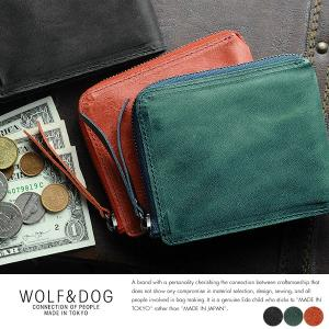 WOLF&DOG L字ファスナー二つ折り財布 ホワイトホース|t-style