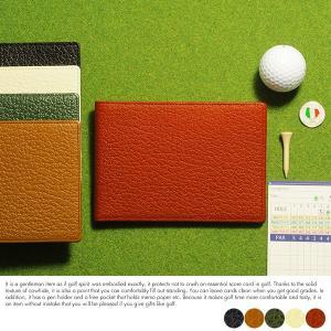 ゴルフ好きなお父さん・彼氏・上司へのプレゼントに。ワイド型のスコアカードケース。  サイズ:幅15....