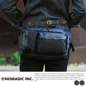 NOMADIC 撥水ウエストバッグ メンズ ナイロン KA01|t-style